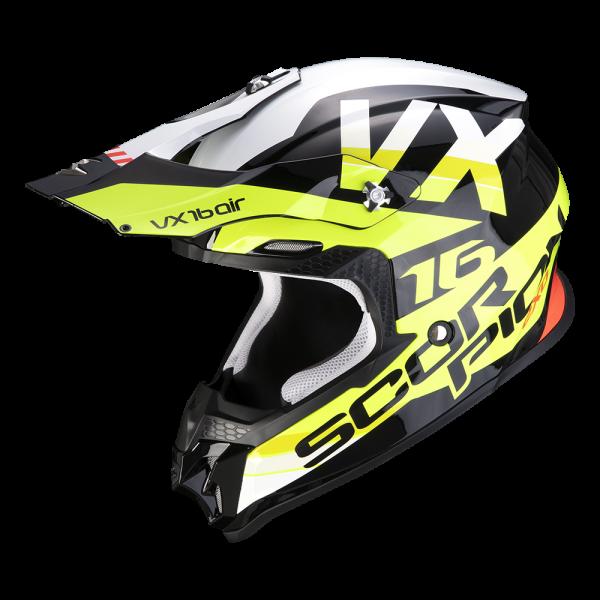 Scorpion VX-16 Air X-Turn Schwarz / Neongelb / Weiß
