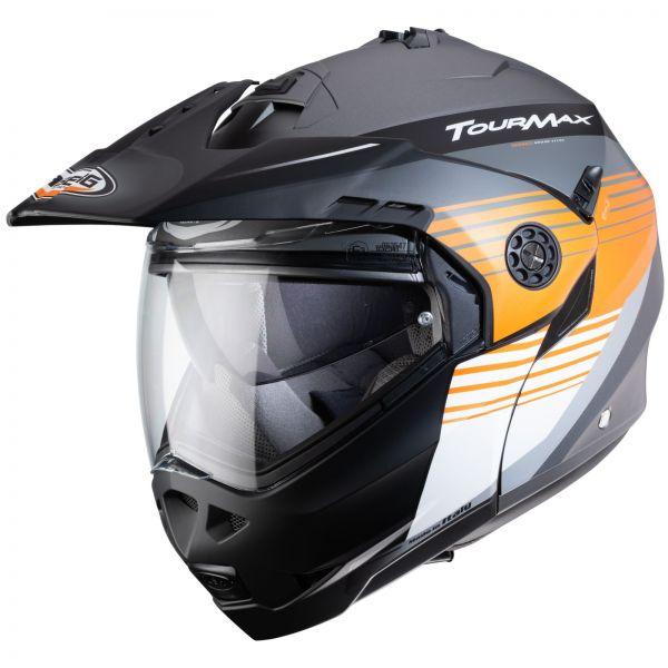 Caberg Tourmax Titan Matt-Gun / Orange / Weiß