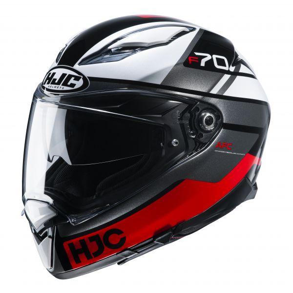HJC F70 Tino MC1 Schwarz / Weiß / Rot