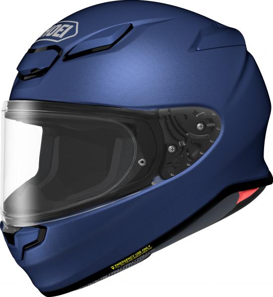 Shoei NXR2 Unifarben Matt Blau Metallic