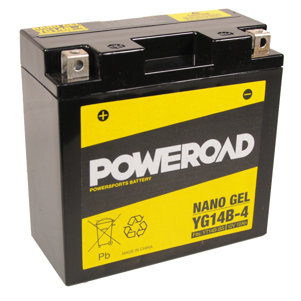 Poweroad Gel YG14B-4/12V-14AH VE6#