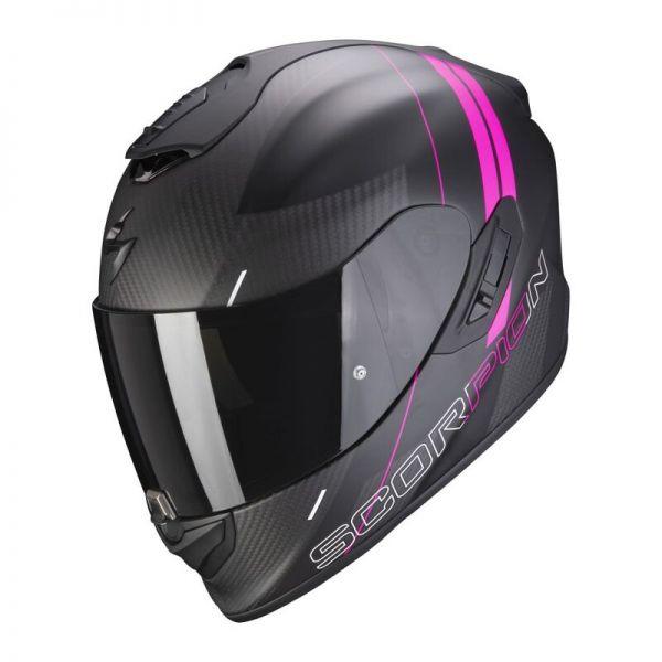 Scorpion EXO-1400 Carbon AIR Drik Mattschwarz / Pink