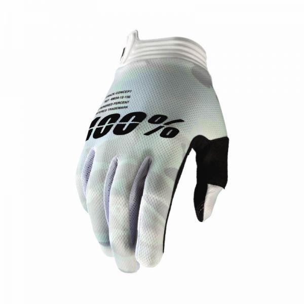 100% handschuh iTrack Weiß / Camo