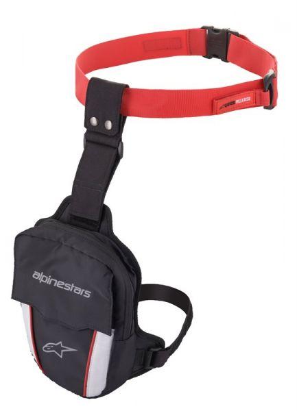 Alpinestars Acces Thigh Bag Schwarz / Weiß / Rot