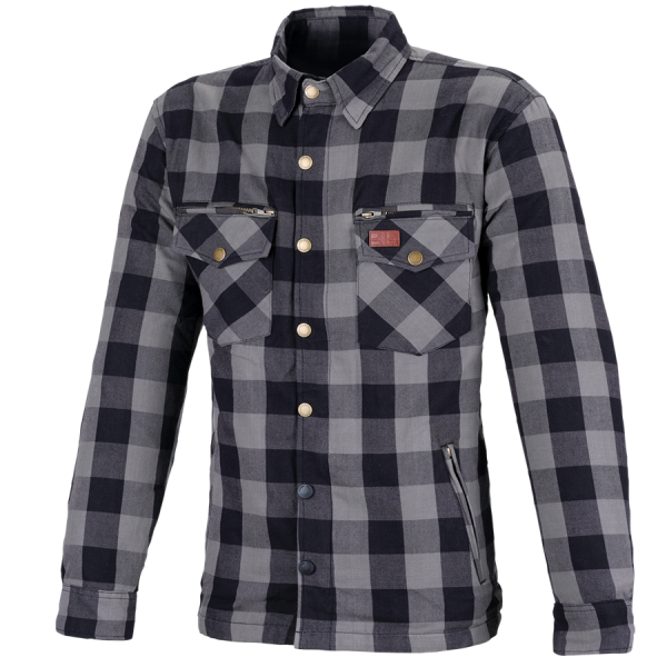 Büse M11 Karo-Cotton Hemd Grau Herren