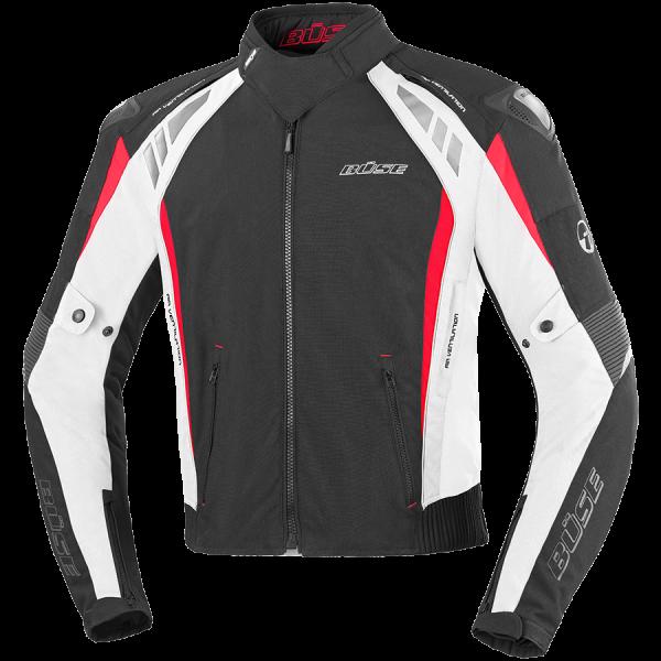 Büse B.Racing Pro Textiljacke Herren Schwarz / Weiß / Rot