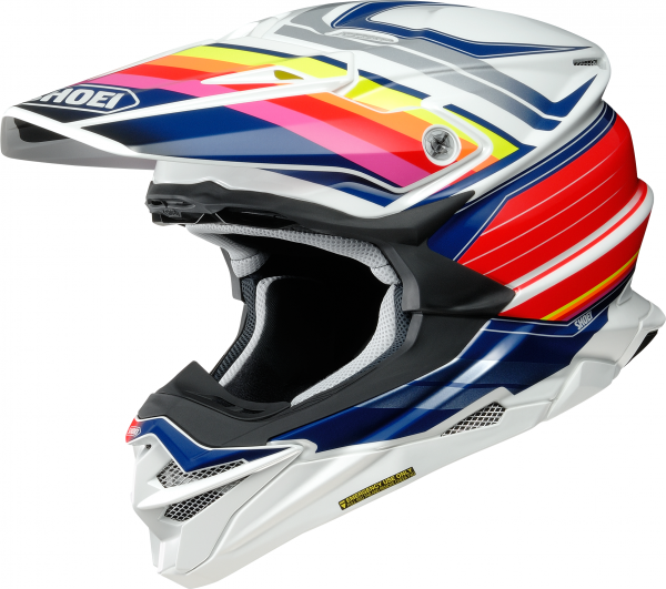 Shoei VFX-WR Pinnacle TC-1 Weiß / Blau / Rot / Gelb