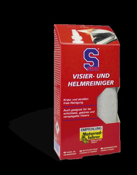 S100 Visier- und Helmreiniger, inkl. Mikrofasertuch