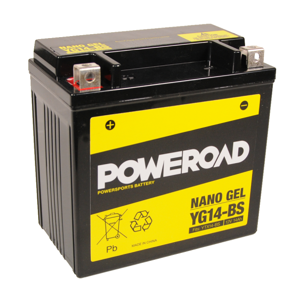 Poweroad Gel YG14-BS/12V-14AH VE4#