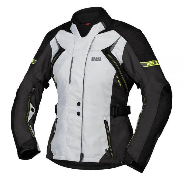 iXS Damen Jacke Tour Liz-ST Grau / Schwarz / Gelb
