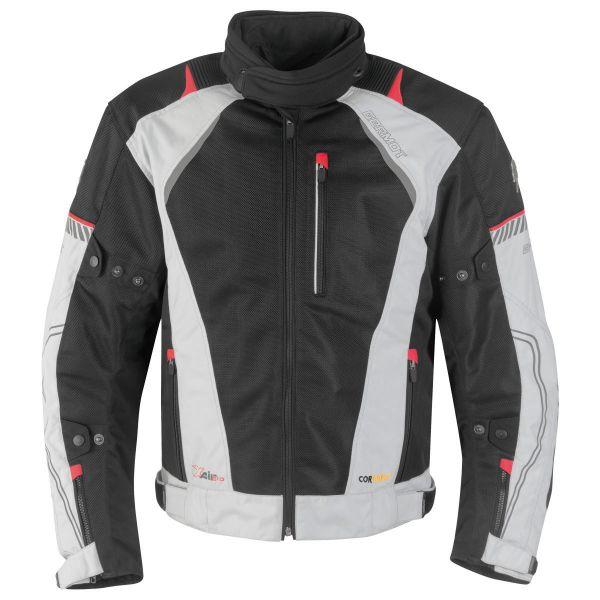 Germot X-Air Evo Pro Textiljacke Herren Hellgrau / Schwarz / Rot