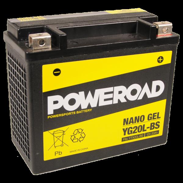 Poweroad Gel YG20L-BS/12V-20AH VE4#