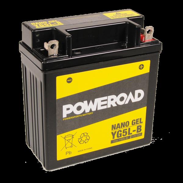 Poweroad Gel YG5L-B/12V-5AH VE12#