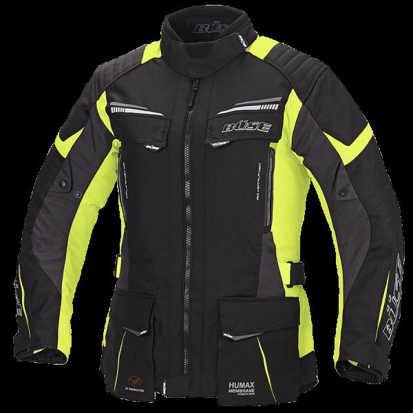 Büse Lago Pro Textiljacke Damen Schwarz / Neongelb