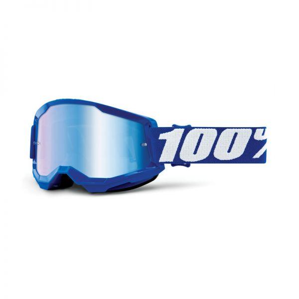 100% Brille Strata 2 Blau / Weiß / Blau verspiegelt