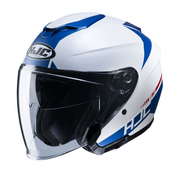 HJC i30 Baras MC2SF Weiß / Blau
