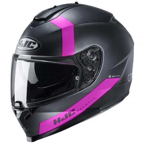 HJC C70 Eura MC8SF Schwarz / Grau / Pink