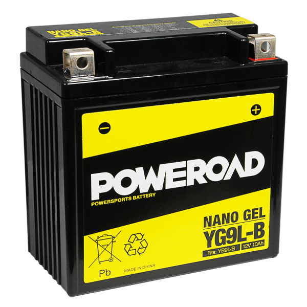 Poweroad Gel YG9L-B/12V-9AH VE06#