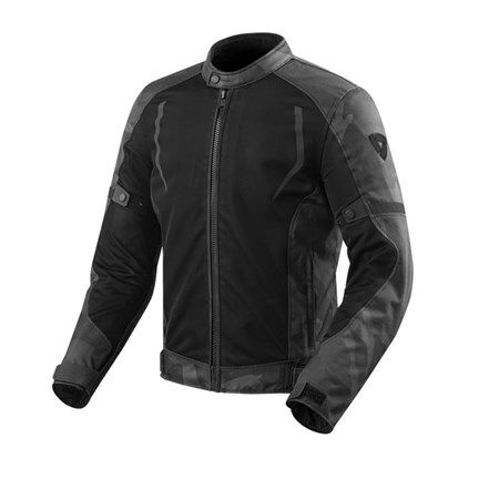 REV'IT! Torque Textiljacke Schwarz / Grau