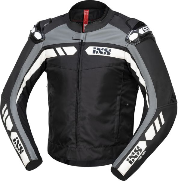 iXS Sport LT Jacke RS-500 1.0 Schwarz / Grau / Weiß