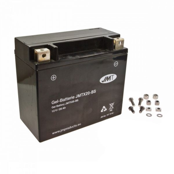 Batterie JMT JMTX-20-BS YTX20-BS Gel