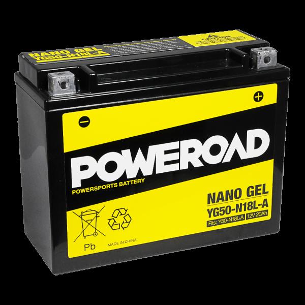 Poweroad Gel YG50-N18L-A3/12V-20AH VE2#