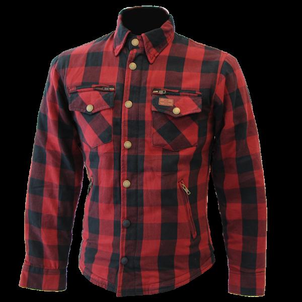 Büse M11 Karo-Cotton Textilhemd Rot Damen
