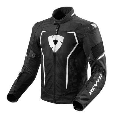 REV'IT! Vertex Air Textiljacke Schwarz / Weiß