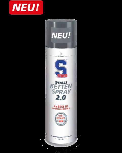 S100 Weißes Kettenspray 2.0 Groß 400ml