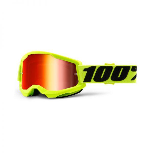 100% Brille Strata 2 Gelb / Rot verspiegelt