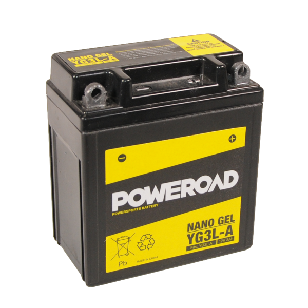 Poweroad Gel YG3L-A/12V-3AH VE18#