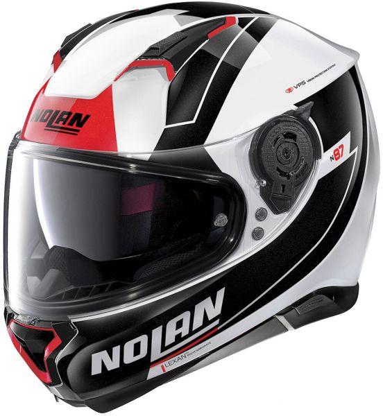 Nolan N87 Skilled N-COM Metal White 98