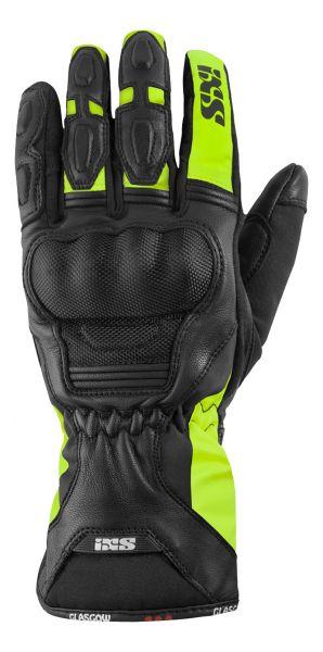 IXS Glasgow Handschuhe schwarz fluo-gelb