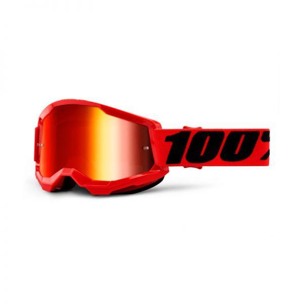 100% Brille Strata 2 Rot / Rot verspiegelt